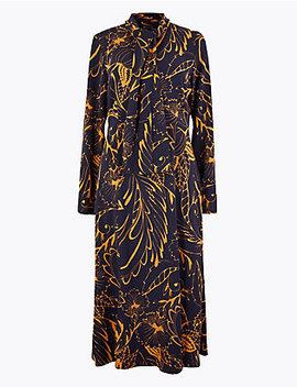 printed-shirt-midi-dress by standard-tracked:
