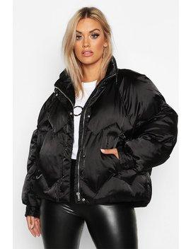 plus-satin-padded-bomber-jacket by boohoo