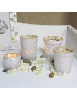 better-homes-and-gardens-set-of-4:-milky-white-mercury-glass-votive-holders by better-homes-&-gardens