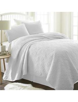 damask-white-queen-performance-quilted-coverlet-set by becky-cameron