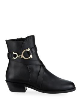 shadi-gancini-leather-booties by salvatore-ferragamo
