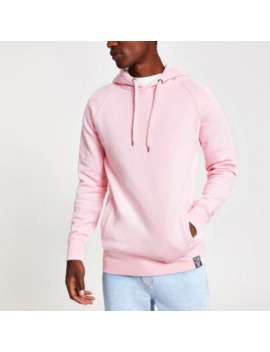 year-dot-pink-logo-back-print-hoodie by river-island
