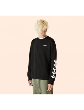 Repeated Star Chevron Mock Neck Crew by Converse