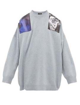 blue-velvet-print-wool-sweater by raf-simons