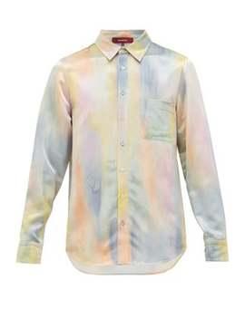 sander-watercolour-print-satin-shirt by sies-marjan