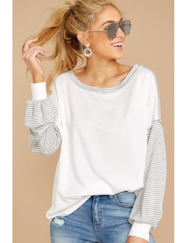 crossed-your-mind-white-and-grey-stripe-top by fantastic-fawn