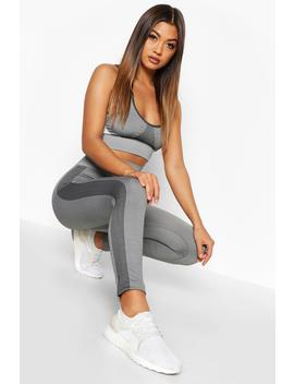 Fit Seamless Knit Side Panel High Waist Woman Legging by Boohoo