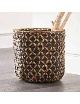 Safiyah Woven Black And Natural Basket by Crate&Barrel