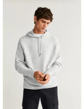 flecked-knit-sweatshirt by mango