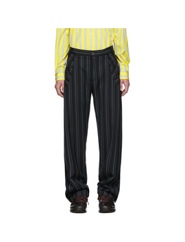 navy-striped-irene-trousers by kiko-kostadinov