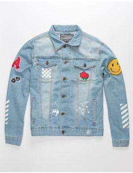 brooklyn-cloth-no-bad-vibes-mens-denim-jacket by brooklyn-cloth