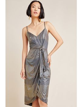 luna-tie-front-metallic-mini-dress by hutch