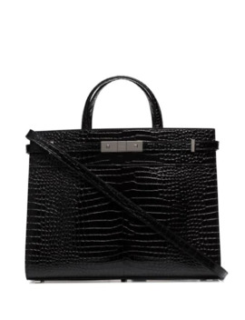 manhattan-crocodile-effect-tote by saint-laurent