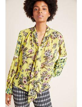 mindy-tie-neck-blouse by varun-bahl