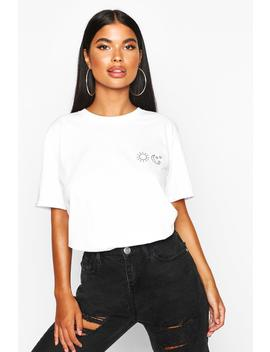 petite-sun-stars-moon-pocket-t-shirt by boohoo