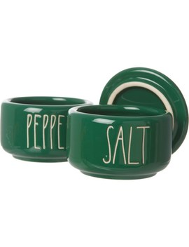 Rae Dunn Salt And Pepper Stacking Cellars   Set Of 2 by Rae Dunn