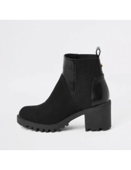 black-chunky-panelled-boots by river-island