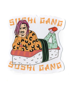 stickie-bandits-sushi-bed-sticker by stickie-bandits