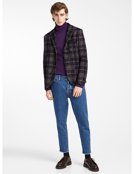 traced-check-flannel-jacket-semi-slim-fit by gianni-lupo