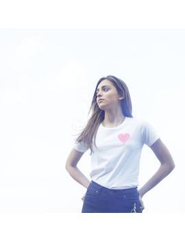 womens-love-t-shirt,-customised-heart-t-shirt,-organic-cotton-t-shirt,-love-t-shirt,-heart-t-shirt by etsy