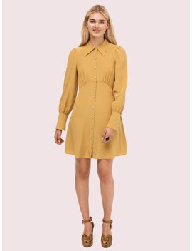 Silk Point Collar Shirtdress by Kate Spade