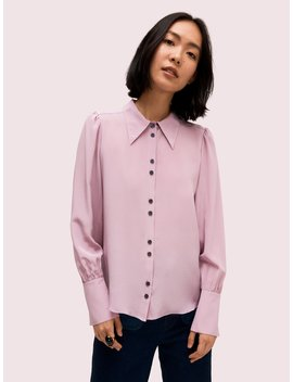 Silk Point Collar Blouse by Kate Spade