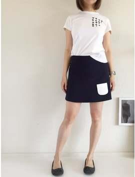 summer-skirt-short--short-skirt-with-little-pockets--navy-blue-cotton-skirt--cute-skirt-for-leggings--cotton-clothing-for-women by etsy