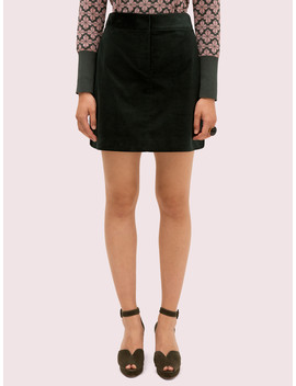 Modern Cord Mini Skirt by Kate Spade