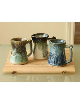 4oz-ceramic-maple-syrup-jug-or-creamer-with-blue-and-green,-black-and-white,-or-green-and-brown-glazes,-handmade-by-jason-hooper-pottery by etsy