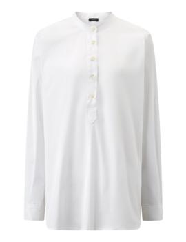 luke-poplin-stretch-blouse by joseph
