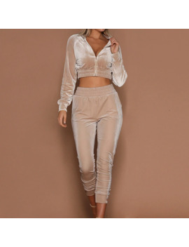laamei-women-tracksuit-zipper-hoodies-sweatshirt-pants-2-pieces-set-fashion-2018-female-cropped-top-pullover-and-trousers-suits by aliexpresscom