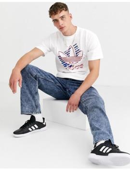 adidas-originals-t-shirt-with-americana-graphic-logo-t-shirt-white by adidas-originals