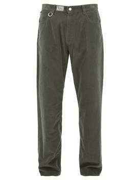 metal-ring-cotton-corduroy-trousers by raf-simons