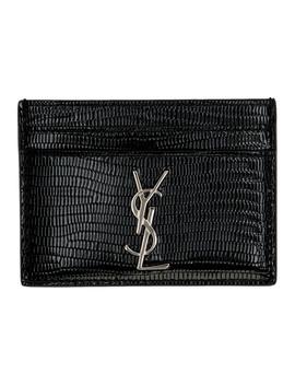 black-snake-monogramme-card-holder by saint-laurent