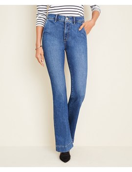 petite-flare-trouser-jeans-in-mid-indigo-wash by ann-taylor