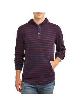 george-mens-and-big-mens-long-sleeve-waffled-pique-fashion-henley-hoodie,-up-to-size-5xl by george
