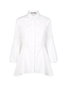 Puff Sleeve Shirt by Lela Rose