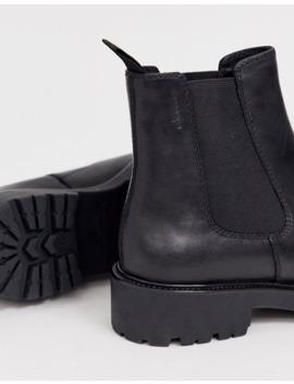 vagabond---kenova---bottines-plates-épaisses---cuir-noir by vagabond