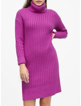 chunky-turtleneck-sweater-dress by banana-repbulic