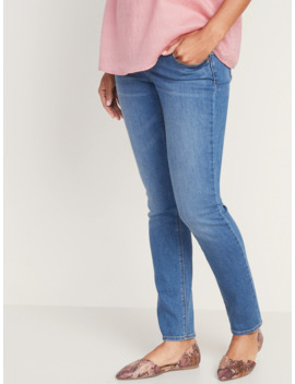 maternity-front-low-panel-universal-straight-jeans by old-navy