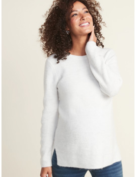 maternity-soft-brushed-shaker-stitch-tunic-sweater by old-navy