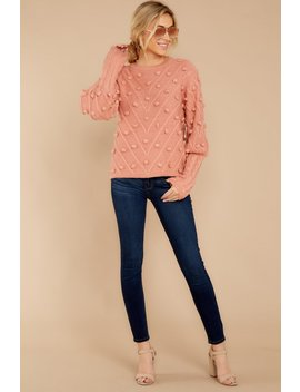 Having A Ball Dusty Rose Sweater by Entro