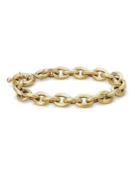 Oval Linked Bracelet In 14k Italian Yellow Gold by Blue Nile