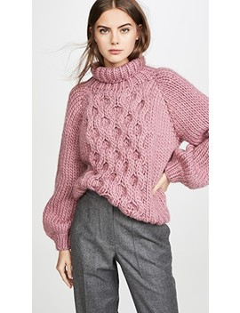 honeycomb-high-neck-sweater by i-love-mr-mittens