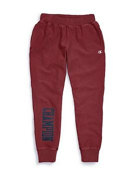 Champion Life® Men's Vintage Wash Reverse Weave® Joggers, Satin Block Logo by Champion