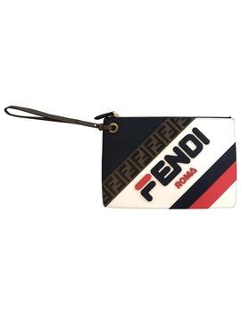 Fendi Mania Leather Clutch Bag by Fendi X Fila