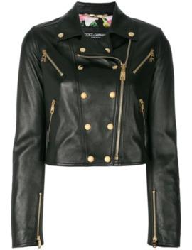 studded-leather-biker-jacket by dolce-&-gabbana