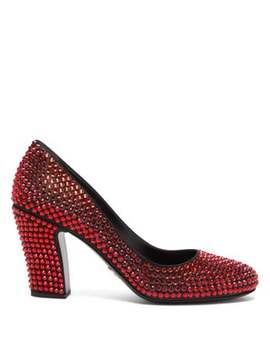 crystal-embellished-leather-pumps by prada