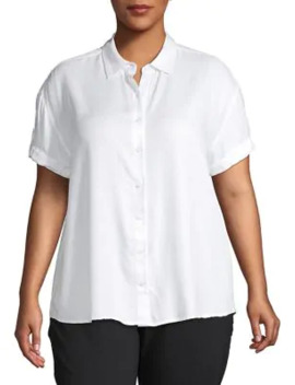 plus-roll-sleeve-shirt by lord-&-taylor