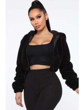 dont-dream-its-over-fuzzy-jacket---black by fashion-nova